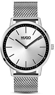 HUGO #Exist Stainless Steel Mesh Bracelet Watch, 40mm
