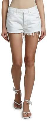 Off-White Cutoff Denim Shorts