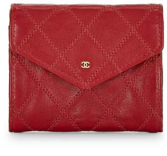 Chanel Red Lambskin Coin Purse