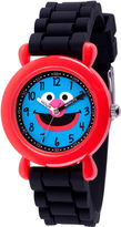 Sesame Street Boys Black Strap Watch-Wss000035