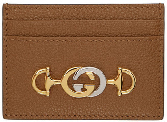 Gucci Brown Interlocking G Card Holder