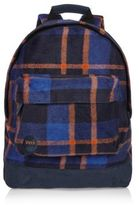 River Island MensOrange Mi-Pac picnic checked backpack