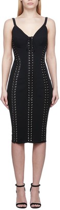 Dolce & Gabbana Lace-Up Embellished Dress