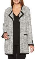 Rafaella Tweed Plaid Blister Knit Jacket