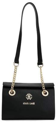 Roberto Cavalli Regina Small Logo-embellished Pebbled-leather Shoulder Bag