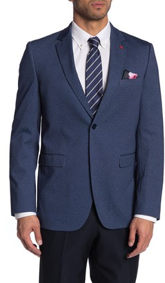 Soul Of London Black Jacquard Shawl Collar Tuxedo Jacket