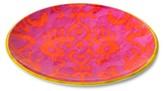 Mudhut Ikat 10.5in Melamine Dinner Plate - Pink/Orange