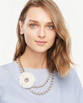 Ann Taylor Raffia Statement Necklace
