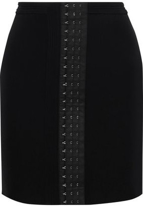 Thierry Mugler Hook-detailed Stretch-twill Mini Skirt