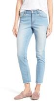 Caslon Frayed Hem Skinny Ankle Jeans (Regular & Petite)