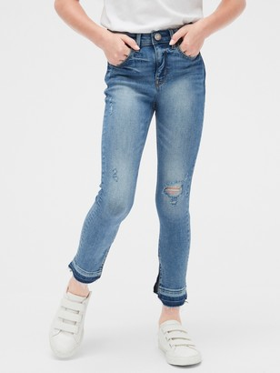 Gap Kids High Rise Destructed Ankle Jeggings with Stretch