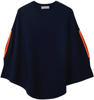Cove Florence Navy Cashmere Blend Swing Poncho