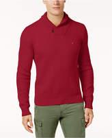 Tommy Hilfiger Men's Waffle Knit Shawl-Collar Sweater