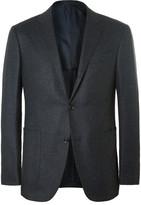 Ermenegildo Zegna - Blue Milano Slim-fit Mélange Wool And Silk-blend Blazer