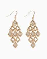 Charming charlie Diamond Tiered Stardust Earrings