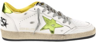 Golden Goose Ballstar White Leather Sneaker With Laminate Inserts