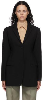 Jil Sander Black Wool Tailored Blazer