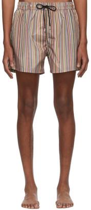 Paul Smith Multicolor Signature Stripe Swim Shorts