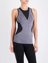 adidas by Stella McCartney Contrast stretch-mesh training top