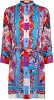 Gottex Harlequin Silk Shirt Dress