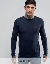 Barbour Jumper With Beacon Logo In Navy