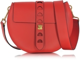 Coccinelle Carousel Large Red Leather Crossbody Bag