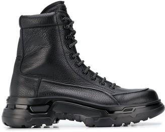 Giorgio Armani Lace-Up Military Boots