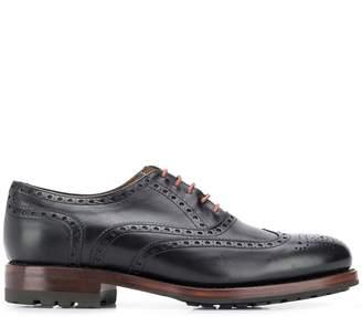 Berwick Shoes brogue detailing lace-up shoes