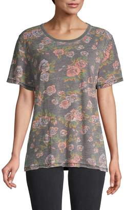 Free People Floral-Print Cotton-Blend Tee