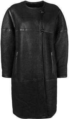 Isabel Marant Oversized Boxy Fit Shearling Coat