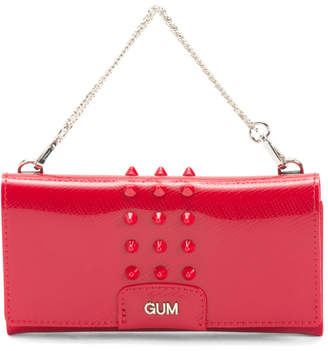Made In Italy Gum Shoulder Bag With Studs