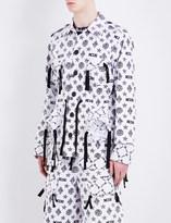 Kokon To Zai Monogram-print cotton jacket