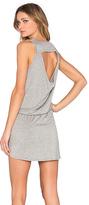 Chaser Drape Back Drawstring Mini Dress