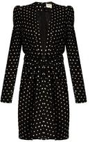 Saint Laurent Lipstick-dot crepe dress