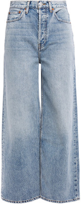 RE/DONE High-rise Wide-leg Jeans