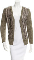 Derek Lam Paneled Ribbed Cardigan
