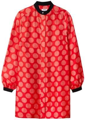 Somerville . Riley Silk Mini Dress In Op Art Spot
