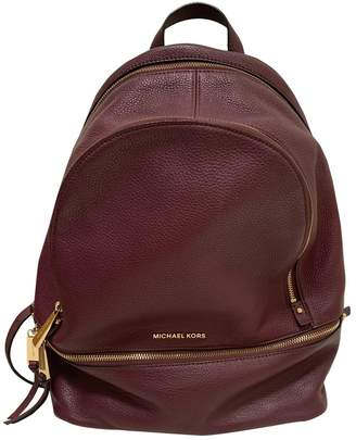 Michael Kors Rhea Purple Leather Backpacks