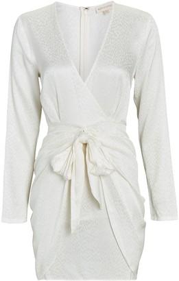 Ronny Kobo Marissa Tie-Waist Jacquard Mini Dress