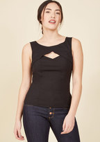 Stand Your Fairground Tank Top in Licorice in 1X