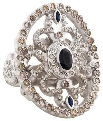 Armenta New World Diamond & Sapphire Cocktail Ring