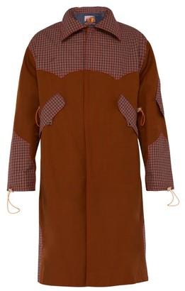 Boramy Viguier - Checked Panel Cotton Blend Faille Raincoat - Mens - Camel