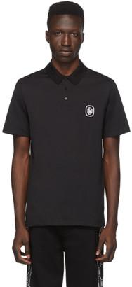 Neil Barrett Black New Logo Jersey Polo