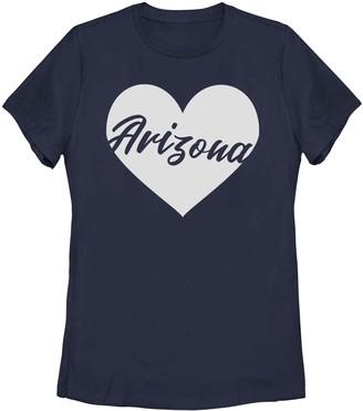 Juniors' Arizona Heart Graphic Tee