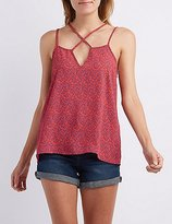 Charlotte Russe Printed Strappy Tank Top