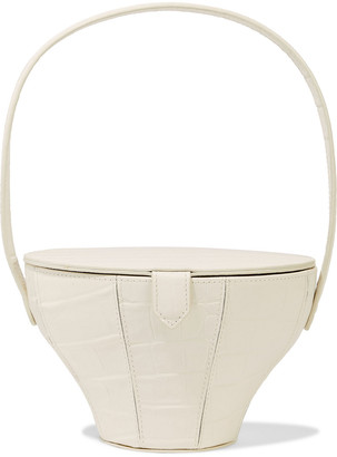 STAUD Alice Croc-effect Leather Bucket Bag
