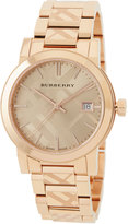 Burberry 34mm The City Stainless Steel Bracelet Watch, Rose Gold
