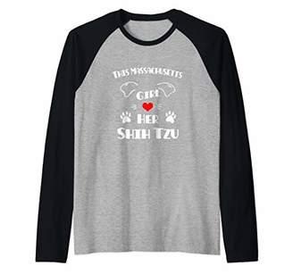 Shih This Massachusetts Girl Loves Her Tzu Raglan Baseball Tee