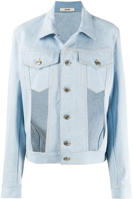 Zilver Cut-Out Front Denim Jacket