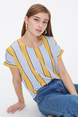 Forever 21 Boxy Striped Dolman Top